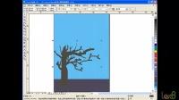 coreldraw精典实例-22.图形的修整-涂抹工具(绘制树干的效果)
