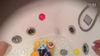 面包超人水上洗澡玩具演示视频