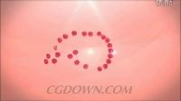 玫瑰花瓣组成的标志画圈AE模板视频素材来自西橘网