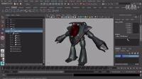 Maya 2015 超级入门-048.完成机器人重心控制