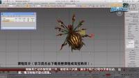 3dmax蜘蛛游戏动画:蜘蛛死亡动作02-足部细节调整详解