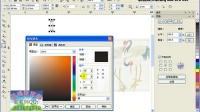 CDR自学平面设计软件,,零基础coreldraw X4自学光盘设计展开面