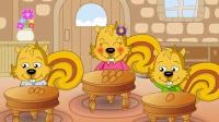 [华童微视频]动物王国的数学故事:数字比大小。培养宝宝理解力