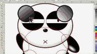 cdr 实例教程 熊猫烧香卡通制作 CDR平面设计