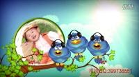 AE儿童卡通鸟主题电影相册自动漫画模板