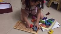 培培,三岁半拼金头脑(KATAMINO)第十二关,不知道她怎么做到的