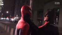 [漫威COS]蜘蛛侠vs蝙蝠侠在多伦多恶搞打斗