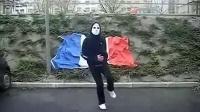 法国鬼步舞面具男视频 鬼步舞高手曳步舞表演