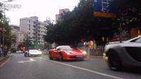 深圳万象城迈凯伦MP4法拉利458兰博基尼LP700炸街