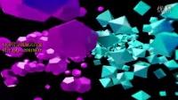 3D 立体 几何形状 菱形 球体舞动 led背景素材 舞蹈背景