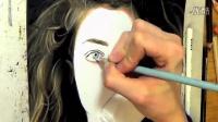 彩色铅笔画绘制Lorde逼真素描头像