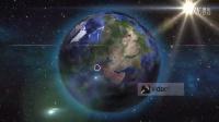 2407[素材TV] 卫星定位地球缩放AE高清AE模板
