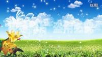 蝴蝶气泡粒子上升风景动态视频背景素材_高清