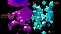 裸眼3D立体空间动感方块 led背景素材高清视频 音频