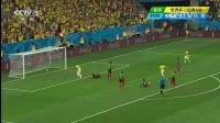 2014巴西世界杯每日进球小组赛 [进球]内马尔带球高速突破 禁区线施射破门 140624