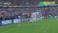 2014巴西世界杯每日进球小组赛 [进球]迪马利亚劲射中柱 梅西补射爆射破门 140626