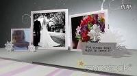 折纸拉花婚礼婚纱AE模板