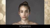 【youtube奇趣精选】一张女孩照片,按照各国审美标准PS出的美女图