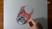 【手绘】国外大神,超写实绘画 干瘪可乐瓶