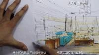 手绘 转角手绘教程 室内设计教程 中军老师【客厅大场景上色】