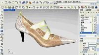 三维扫描仪 3d鞋样渲染透明效果
