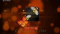 蝴蝶,时尚,演绎标志,标志AE模板视频素材,来自西橘网