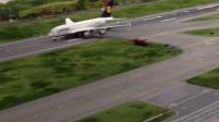 汉堡迷你机场的A380起飞
