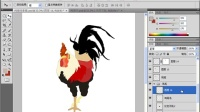 [PS]PS教程_PhotoshopCS4实例教程_8 国画雄鸡(一)