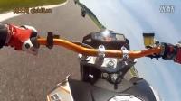 KTM Duke 690 赛道第一视角骑行