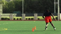 FOOTBALL AGILITY TRAINING. L - DRILL. 3 CONE.