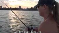 美女钓鱼战斗民族女汉纸屌炸天