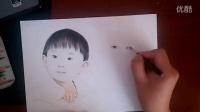 橙色手绘出品。代画素描色彩彩铅水彩丙烯油画插画
