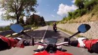 杜卡迪Ducati Monster 821 骑行压弯、全程第一视角视频