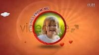 A0392 可爱卡通风格宝宝成长儿童生日纪念相册AE模板
