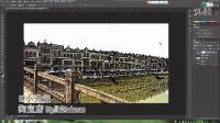碉楼杯赤坎影视城PS图片制作,PS滤镜的应用,风景图改素描上色