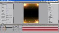 ae教程第二套3.黄金粒子流星雨-珠光宝气字幕加背景制作