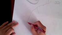 结婚张阿牧。橙色手绘出品代画素描色彩彩铅水彩丙烯油画插画动画