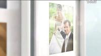 优雅美好的婚礼爱情故事相片墙AE模板