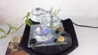 创意陶瓷流水喷泉家居装饰工艺品朋友结婚实用礼品桌面水景摆件
