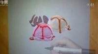 3D立体手绘冰淇淋球延时摄影