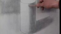 素描几何体圆柱体画法视频讲解