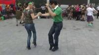 北海大龙水兵舞俱乐部8-2颐和园联欢张女士与梁先生表演吉特巴
