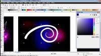 coreldraw x6教程 CDR案例教程创幻彩墙面背景