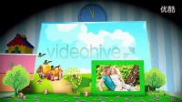 A0276卡通魔法儿童3D立体相册AE模板