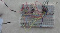 电子幸运转盘面包板模型