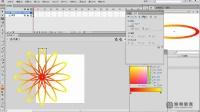 Flash教程Flash视频Flash动画Flash制作绽放的花朵