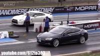 2014 Nissan GTR vs Tesla Model S 直道比拼