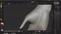 ZBrush女性手部胳膊雕刻艺术视频教程