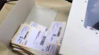 赛德曼快递单撕单机热敏面单切纸机器演示