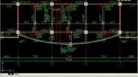 钢筋抽翻样算量GGJ2009中间层的绘制-2-弧形梁的绘制